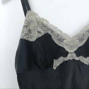 Express Black Silk with Lace Trim Camisole